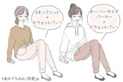 【GU】ラフなのに可愛いッ♡「万能スウェットコーデ」4選