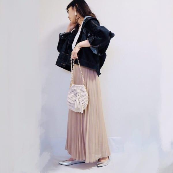 春~夏に大活躍♡【GU】の「プリーツスカート」がコーデに万能すぎ!