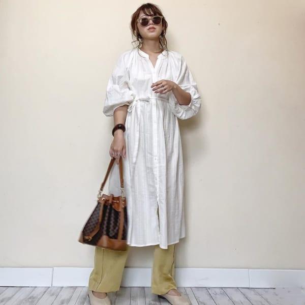 【30代向け】オトナ美人な雰囲気を作る「シャツワンピ」コーデ4選