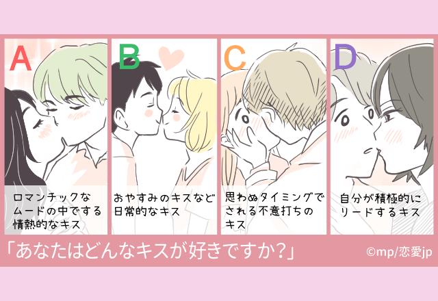 【心理テスト】あなたの好きなキスでわかる!?「恋愛深層心理」