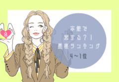 本能で恋する星座ランキング(4位~1位)