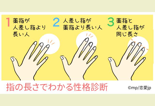 一番長いのはどこ? 指の長さで分かる!あなたの本質診断