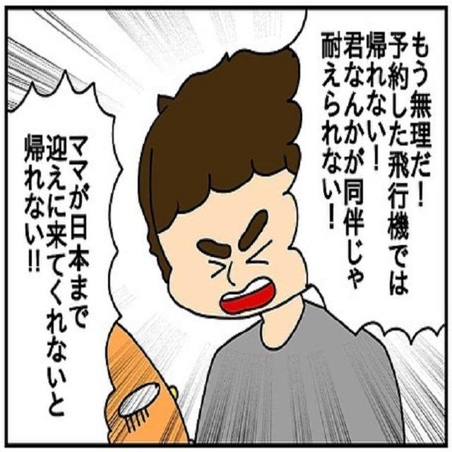 マジで無理だ…。ドイツ人の夫は「ママが日本へ迎えに来ないとイヤだ!」と駄々をこねだして…?!【ドイツで交際結婚そして国際離婚する話】<Vol.34>